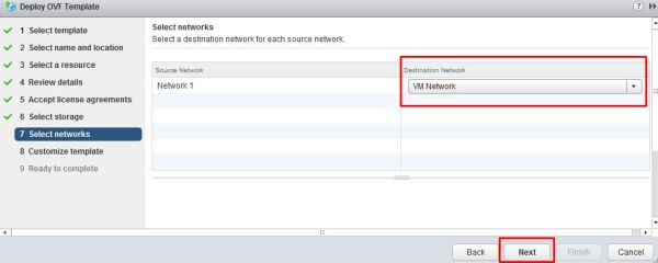 Install vRealize Suite Lifecycle Manager - Select Networks