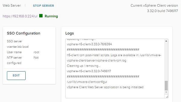 vSphere HTML5 Web Client Fling - Update