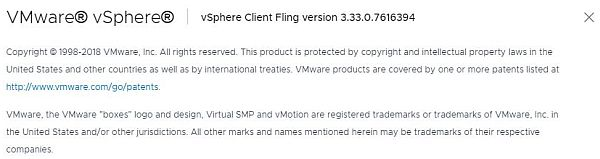 vSphere HTML5 Web Client Fling - Version v3.33