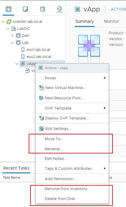 vSphere HTML5 Web Client Fling v3.32 - Operations