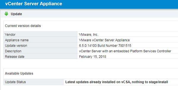 vCenter Server 6.5 U1f