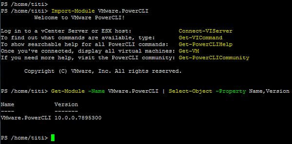 PowerCLI 10.0.0 Running on Ubuntu 16.04