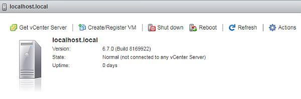 Install vSphere 6.7 - ESXi Client