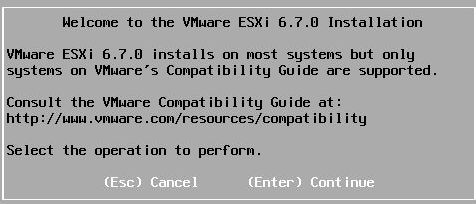 Install vSphere 6.7 - Welcome