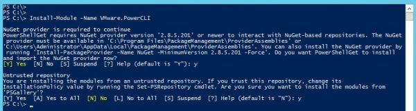 Install PowerCLI 10.1.0 - Windows