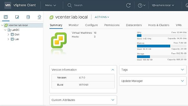 Upgrade vCenter Server Appliance from 6.5 to 6.7 - vCenter