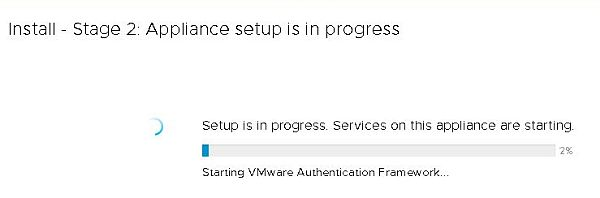Install VCSA 6.7 - Install Stage 2