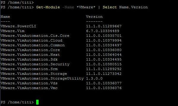 PowerCLI 11.1.0 - Modules