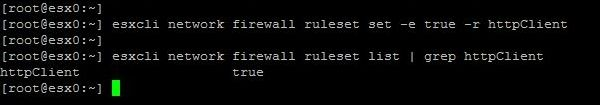 Upgrade ESXi from 6.5 to 6.7 with Command Line - Change Firewall Configuration