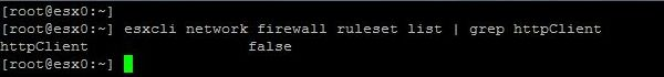 Upgrade ESXi from 6.5 to 6.7 with Command Line - Check Firewall Configuration