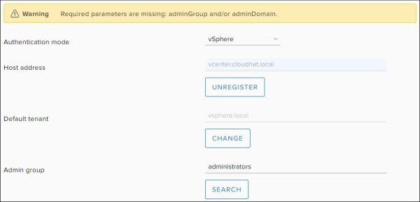 Configure vRealize Orchestrator - Configure Admin Group