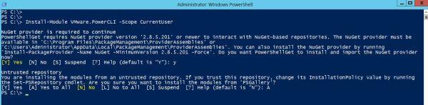 Install PowerCLI 12.0.0 on Windows