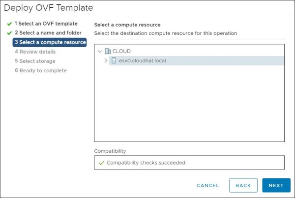 vRealize Orchestrator - Select Compute Resource