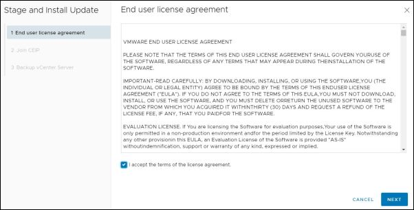 vCenter Server 7.0.0a - End User License Agreement
