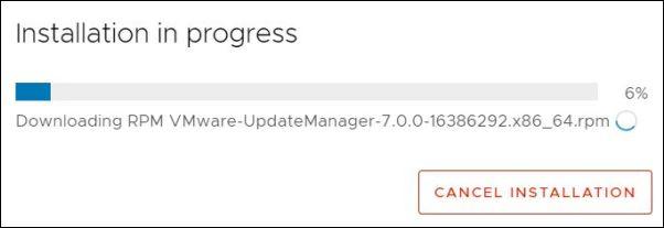 vCenter Server 7.0.0b - Installation in progress