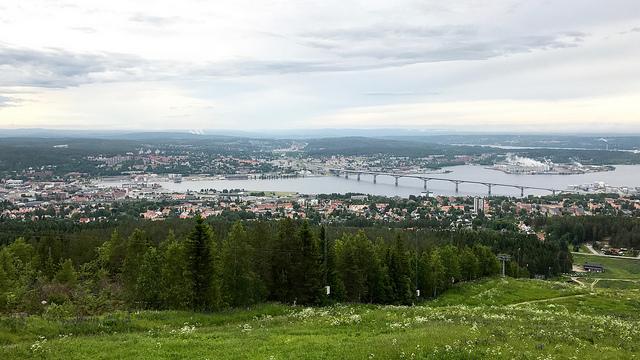 Sundsvall sett från Södra stadsberget