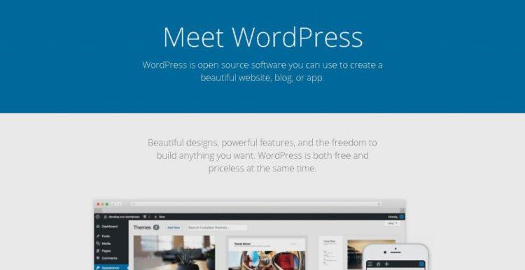 a screenshot of the WordPress.org website