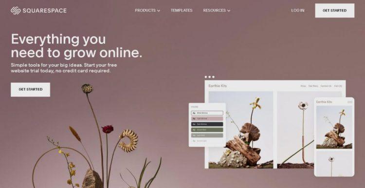 a screenshot of Squarespace's website