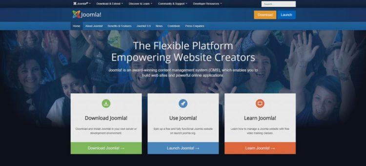 a screenshot of Joomla's website