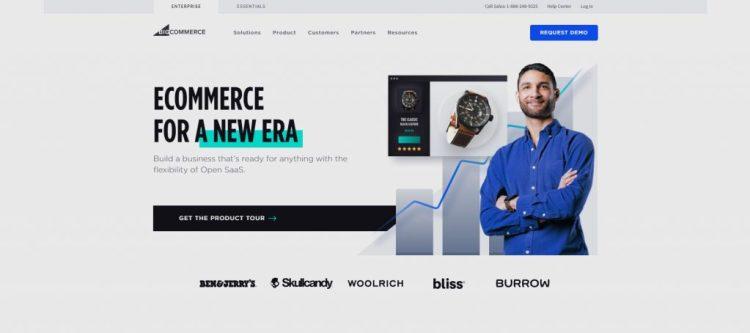 a screenshot of BigCommerce's website