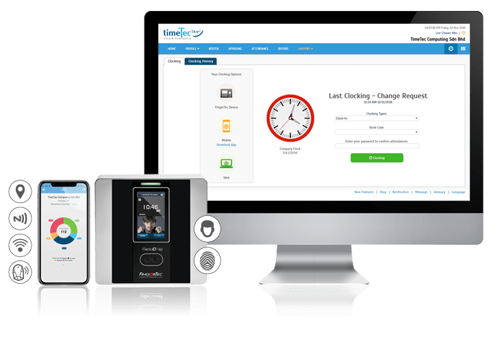 time attendance solution clocking