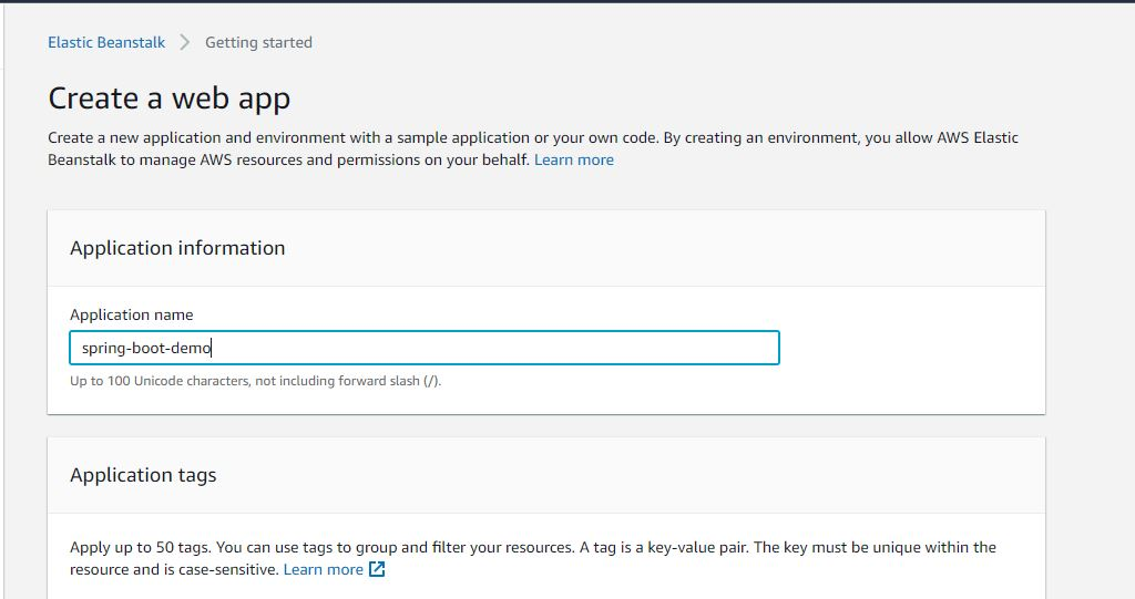 How to Deploy Spring Boot Application to AWS Elastic Beanstalk Creation