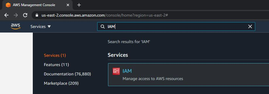 How to create an IAm user in aws step by step 1