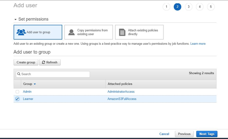 How to create an IAm user in aws step by step 4 5