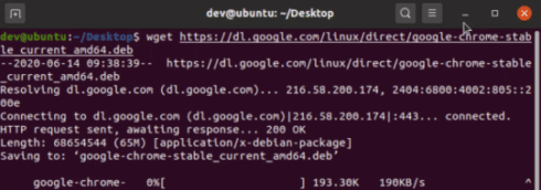 Download-Google chrome on Linux using wget command