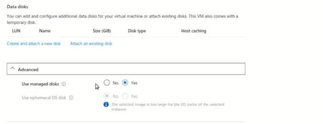 virtual-machine-Azure-data-disk