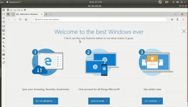 Remote desktop VM
