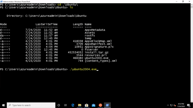 Linux-on-windows10-launch