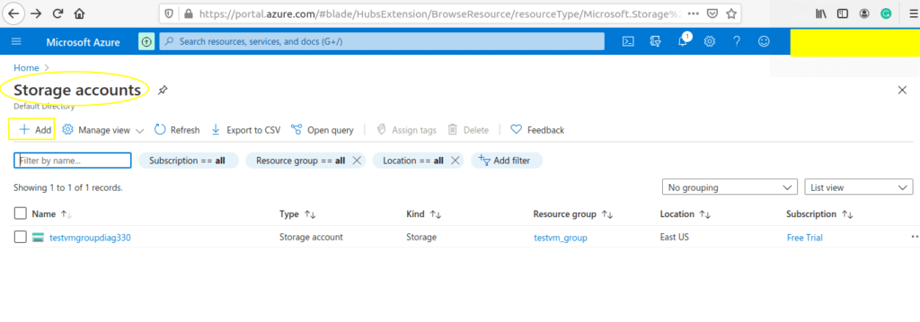 create-storage-account-on-azure