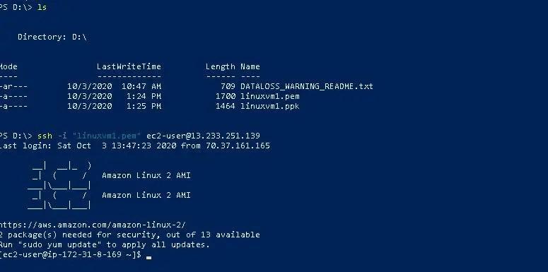 ssh-ec2-instance-powershell-windows