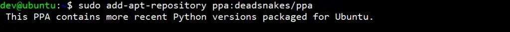 add-deadsnakes-ppa