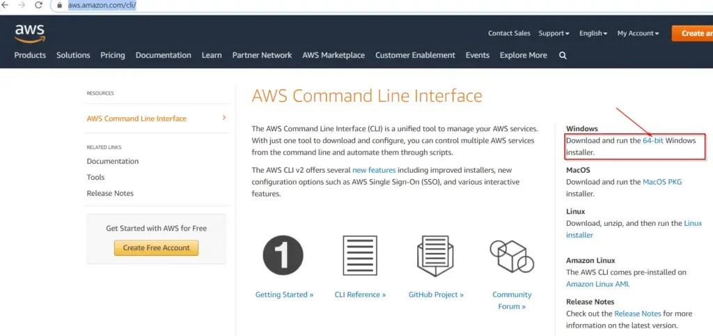 Download-AWS-cli-V2-64-bit