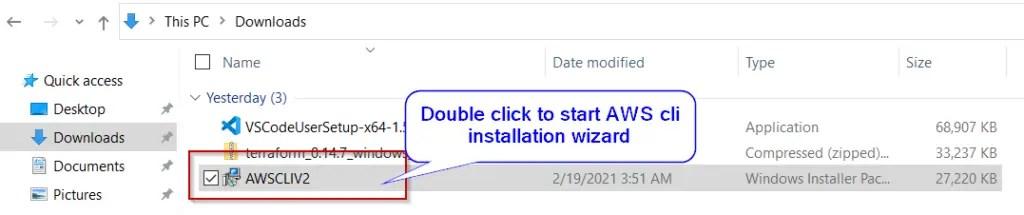 Run-AWS-CLI-V2-installer