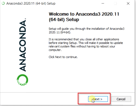 Welcome-to-anaconda3-wizard