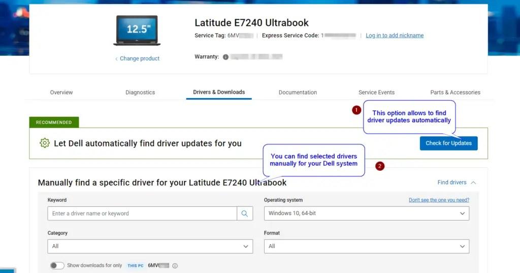 Dell-driver-update-window