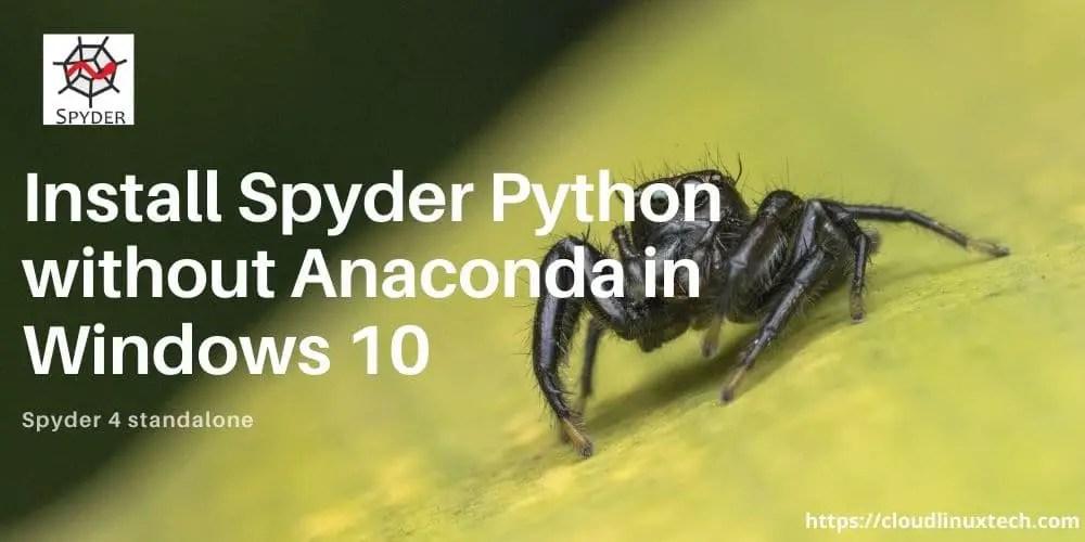 Spyder-python-install