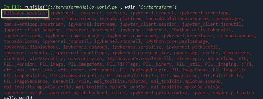 Reloaded-modules-spyder