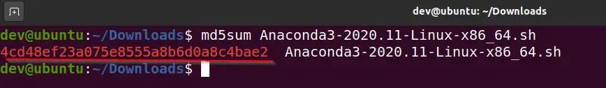 Verify-md5checksum-anaconda