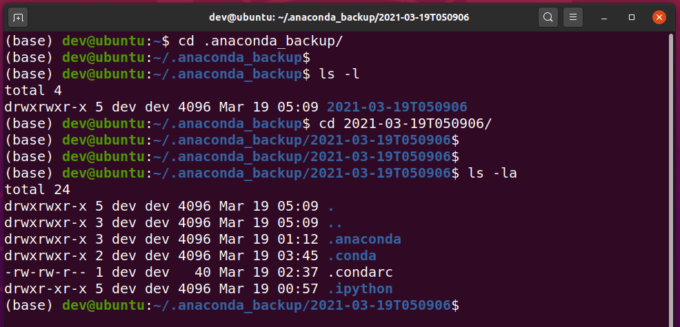 list-anaconda-backup-directory-files