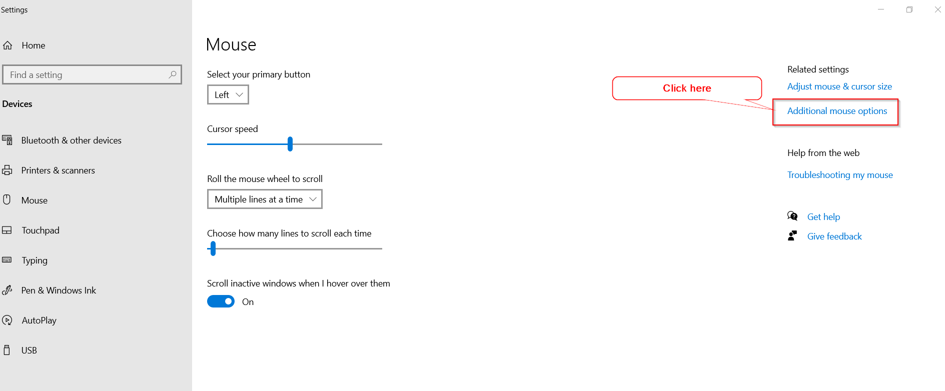 Additional-mouse-options