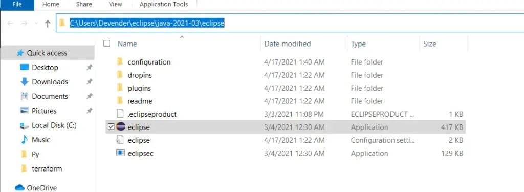 default-eclipse-install-location