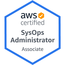 AWS SysOps Administrator badge