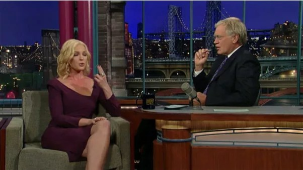 David Letterman and Katherine Heigl Enjoy an Electronic Cigarette