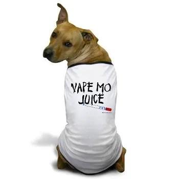 Dog in Vaping tshirt from vaper design studio