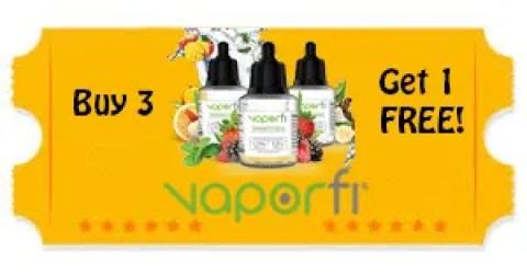 Vapor e-liquid coupon