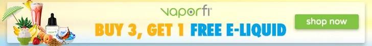 Vaporfi Get 1 Free e-liquid banner 728x90